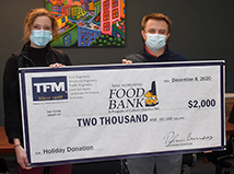 TFMoran gives $3,000 to help with NH hunger during the Holidays
