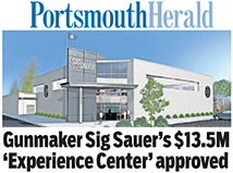 TFMoran's Sig Sauer Experience Center project featured on Portsmouth Herald front page