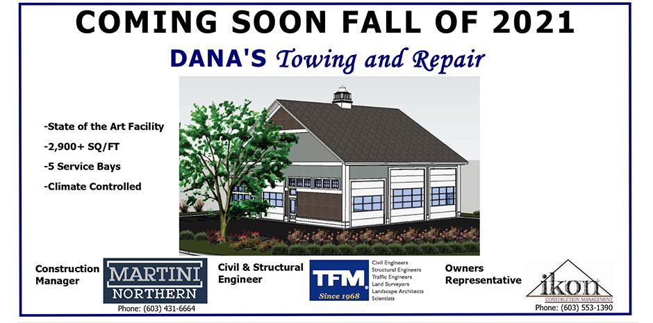 TFMoran engineers for Dana's Towing and Repair in Hampton NH