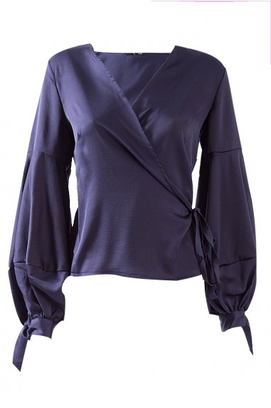 TFNC Solena Satin Navy Top