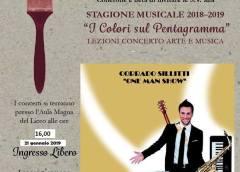 """Concerto di Corrado Sillitti """"One man show"""" nell'aula magna del R. Settimo"""
