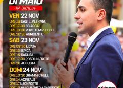Il Ministro Luigi Di Maio in Sicilia questo fine settimana