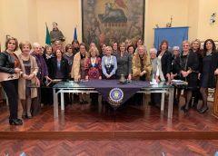 La Governatrice Cristina La Grassa Fiorentino in visita all'Inner Wheel Club di Caltanissetta