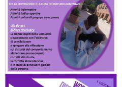 """Casa Rosetta – """"La cura del corpo e dell'anima"""": evento a La Ginestra per la Giornata mondiale d'azione per i disturbi alimentari"""
