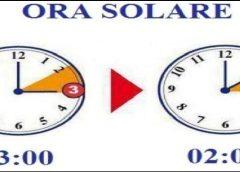 Ora solare: nel weekend lancette indietro di sessanta minuti