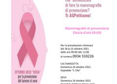 Prevenzione del tumore della mammella, l'ASP di Caltanissetta domenica 24 Ottobre apre gli ospedali della provincia