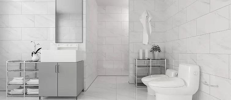 Bathroom Wall Tiles  Use Polished Porcelain Tiles For