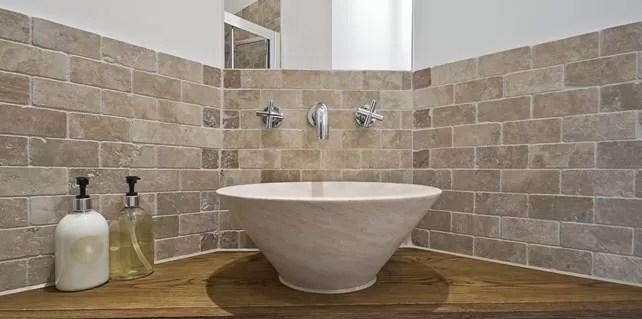 Travertine Tiles Bathroom  Make your bathroom brighten