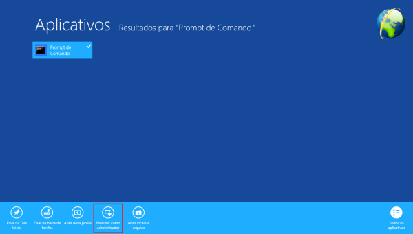 Localizando o Prompt de Comando do Windows