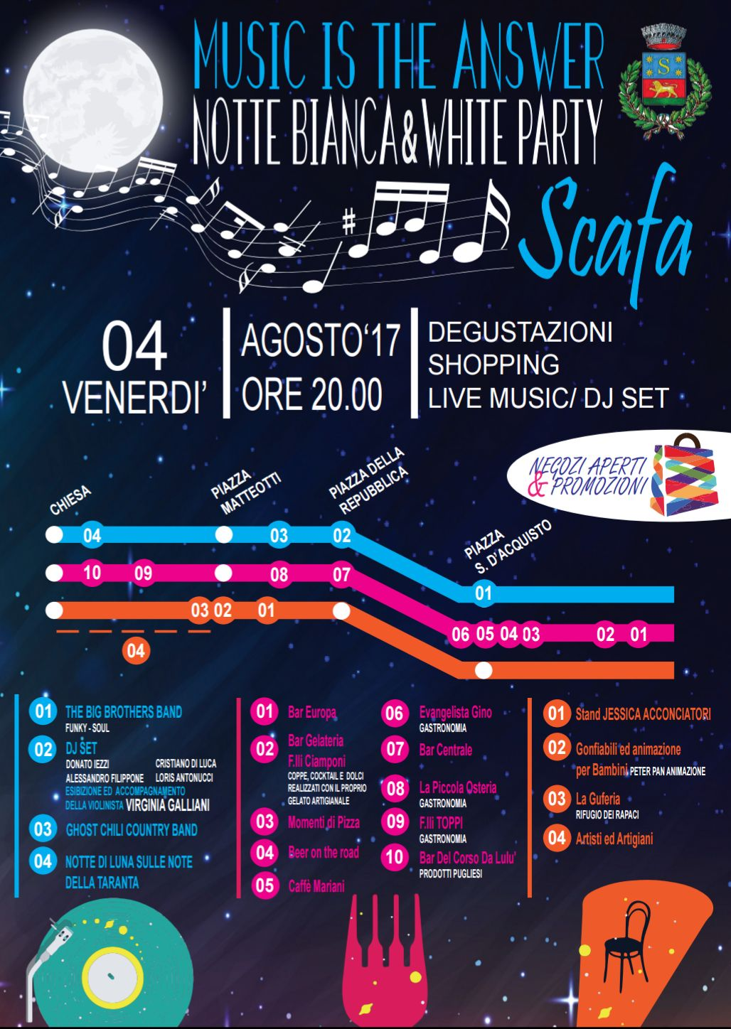 Music Is The Answer Notte Bianca E White Party A Scafa