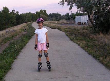 Allison Rollerblading