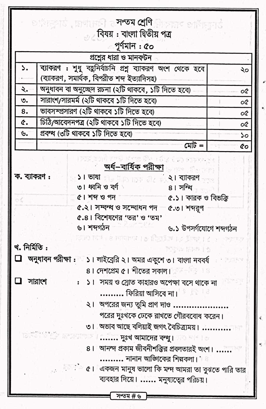 Syllabus » Thakurgaon Govt. Boys' High School