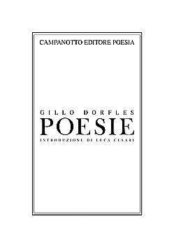 Gillo Dorflles Poesie