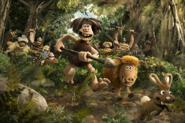 Dug and Hognob in EARLY MAN. Photo courtesy of Aardman.
