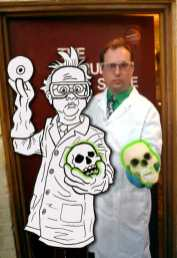 Tommy Cannon aka Dr. Zombie in both dimensions