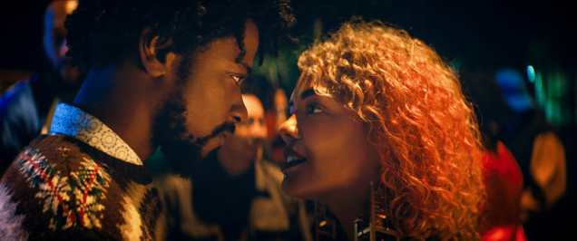 (l to r.) Lakeith Stanfield as Cassius Green and Tessa Thompson as Detroit star in Boots Riley's SORRY TO BOTHER YOU, an Annapurna Pictures release.