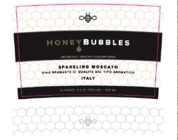 Honey Bubbles Label