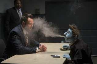 Joel McHale and Leslie David Baker stars in The Happytime Murders