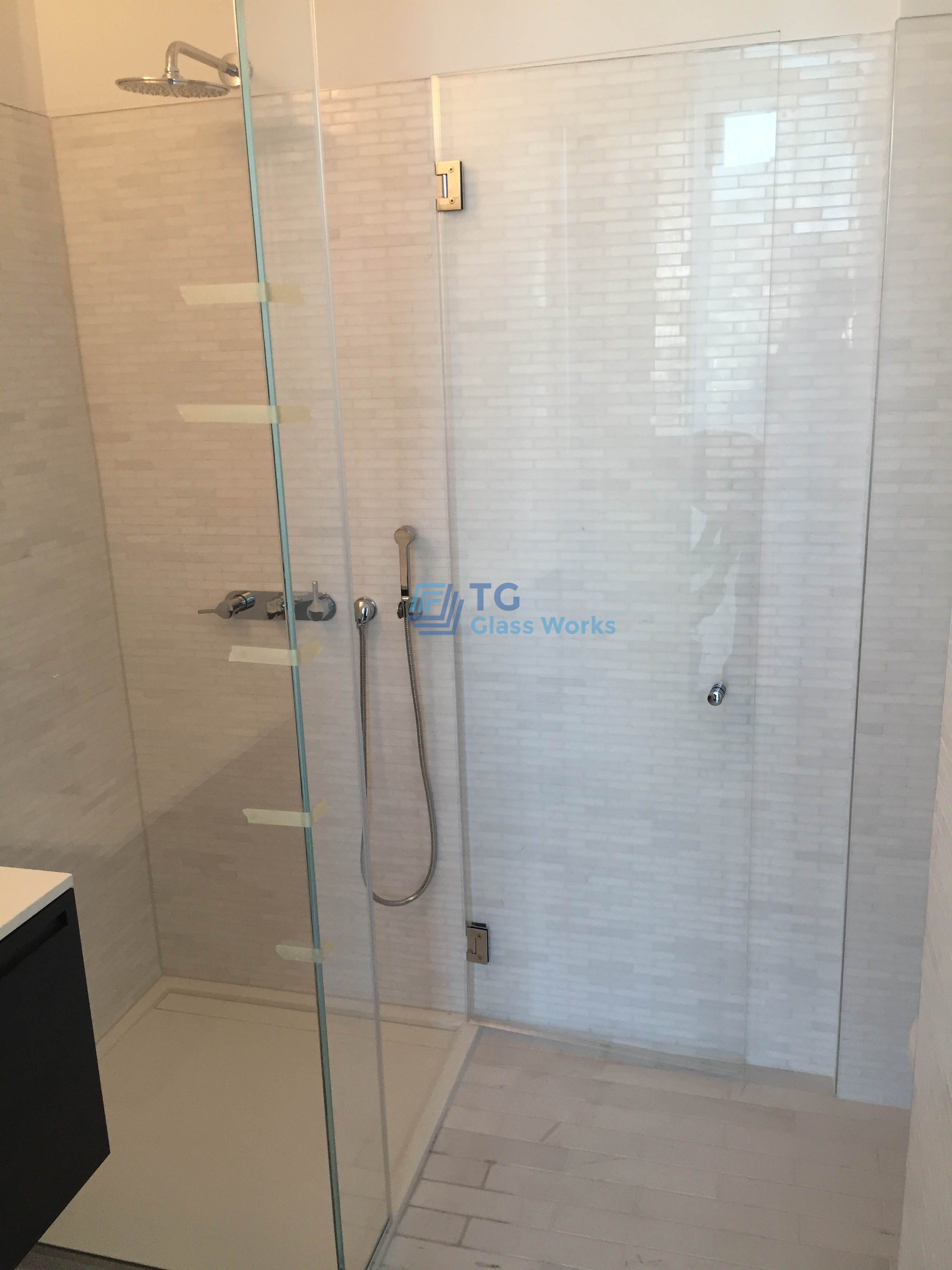 Barrier Free Glass Shower Door Tg Glass Works