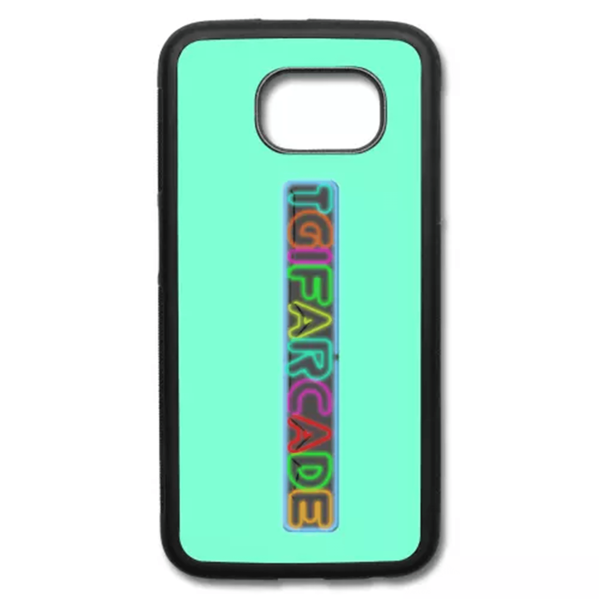new product d8907 d0052 Neon Sign Samsung Galaxy S6 Rubber Case