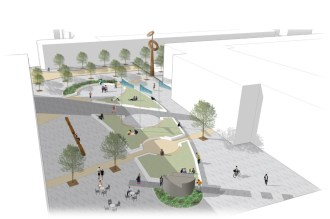 Shortlisted competition entry for Aerospace Square for Cranfield University