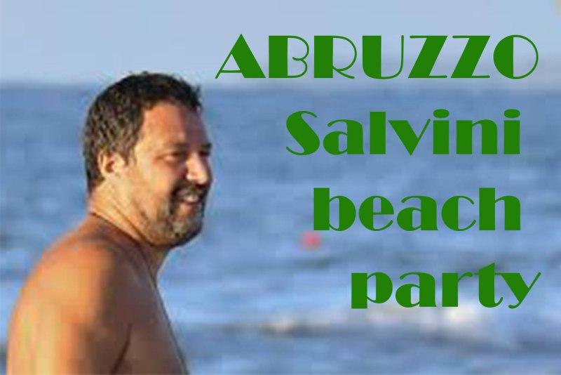Salvini beach party