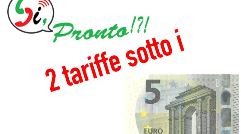 si pronto 5 euro tariffe
