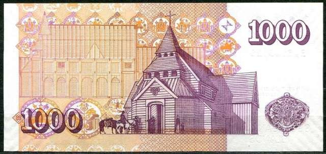 Island bankovky - 1000 Kronur