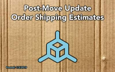 TH3D Post-Move Update – Order Estimated Shipping Times – Happy New Year!
