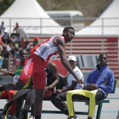 Tyriq Horsford throws his way to javelin throw victory in the Boys under-18 category. His golden throw was a Carifta record 70.73 metres effort.