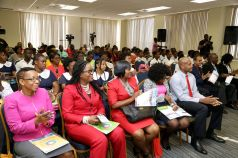 A full house, including Tobago students, attended the event.