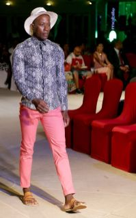 Dion Baptiste wearing Ecliff Elie Designs.
