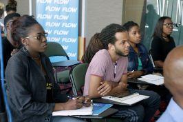 Filmmakers attending the training workshop.