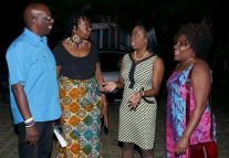 Secretary of Tourism, Culture and Transportation Councillor Nadine Stewart-Phillips, second from right, chats with other guests, including, from left, senior tourism coordinator John Arnold, past president of the ACH Dr Rita Pemberton and Dean of the Faculty of Humanities and Education on the UWI St Augustine campus, Dr Heater Cateau.
