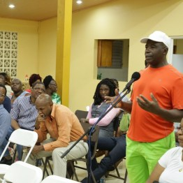 """Dereck """"Brother B"""" Brathwaite proposes the re-introduction of donkeys in the community for an eco-tourism project."""
