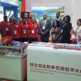 Representatives from the Embassy of the Republic of Trinidad and Tobago to the People's Republic of China.