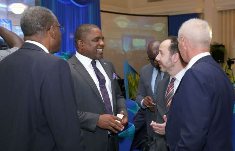 (From left) Dr Terrence Farrell, Deputy Chief Secretary and Secretary of Finance Joel Jack, British High Commissioner Tim Stew and Head of the European Union Delegation to Trinidad and Tobago Aad Biesebroek.