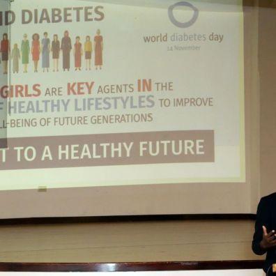 Abigail Berkley, a registered dietician, speaks on the topic.