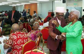 Cynthia Roberts and Harry Shepherd enjoyed dancing to the music.