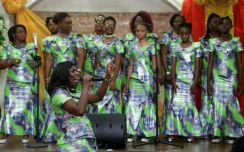 The Dunamis choir lead a praise and worship session.