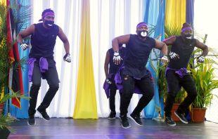 Empros dancers showcase their choreography.