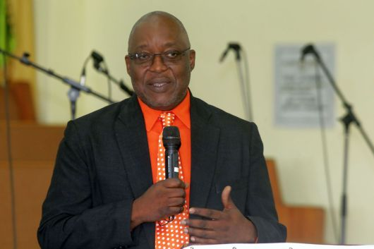 THA Chief Secretary Kelvin Charles speaks at the start of the finals.