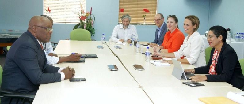 Chief Secretary Kelvin Charles met with members of the Airport Oversight Committee.