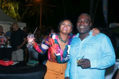 Minister of Sport and Youth Affairs and Tobago West MP Shamfa Cudjoe, left, in the company of Demi John Cruickshank, the former chairman of the Tobago arm of the Trinidad and Tobago Chamber of Commerce and Industry.