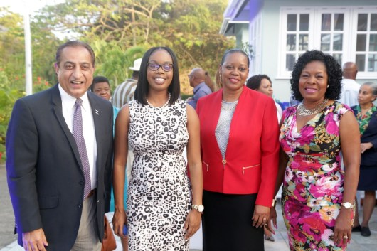 From left, Magdalena Grand Beach and Golf Resort Manager Vinod Bajaj, Secretary at the Division of Tourism, Culture, and Transportation Nadine Stewart-Phillips, Tourism Administrator Claire Davidson-Williams, Secretary of the Division of Community Development, Enterprise Development, and Labout Marslyn Melville-Jack.