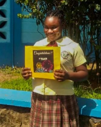 Top SEA student for Tobago Da-xia James of Signal Hill Government Primary school.