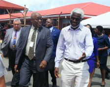 From left, THA Chief Secretary, Kelvin Charles and National Infrastructure Development Company Limited (NIDCO) Chairman Herbert George.