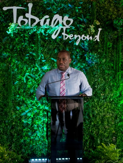 TTAL CEO Mr. Louis Lewis addresses guests during the event.