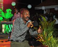 Local reggae artiste Isasha performs.