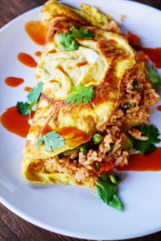 Thai Fried Rice Omelette